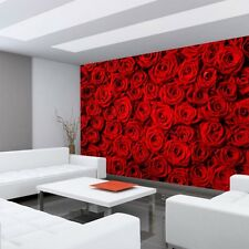 Fleece Photo Wallpaper no. 190 ! Flowers Rose Blossoms Natural Love Red pink