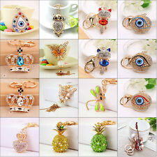 Crystal Rhinestone Keyring Pendant Purse Bag Key Ring Chain Keychain Gifts 24 #