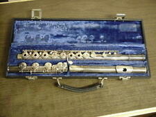 GEMEINHARDT 3SHB SOLID SILVER HEAD OPEN HOLE FLUTE w CASE NO DENTS FREE SHIPPING