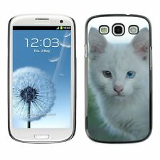 Hard Phone Case Cover Skin For Samsung Street cat with different eyes
