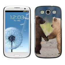 Hard Phone Case Cover Skin For Samsung Bear cubs walk and hold paws