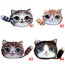 Christmas Gift Cat Face Tail Coin Purse Kid Wallet Bag Change Pouch Key Holder