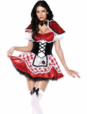 Ladies Fever Sexy Red Riding Hood Fairytale Outfit Fancy Dress Costume