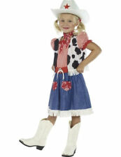 Child Wild West Cowgirl Sweetie Girls Fancy Dress Book Day Week Costume