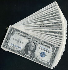(25) CONSECUTIVE 1935-A $1 ONE DOLLAR SILVER CERTIFICATES GEM UNCIRCULATED