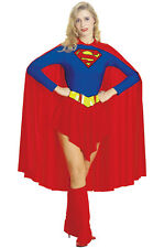 Brand New Superman Supergirl Hero Adult Halloween Costume