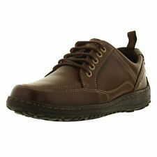 Hush Puppies Belfast Oxford Men's Brown Leather Lace Up Casual Formal Shoes