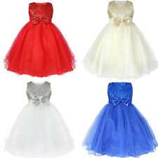 US HOT Pageant Flower Girl Dress Birthday Wedding Bridesmaid Gown Formal Dresses