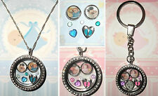 6-8pcs BABY Personalised Custom Living Memory Floating Locket Charms Photo