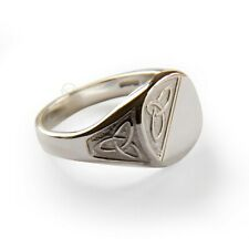 Celtic Infinity Signet Rings 925 Sterling Silver UK Hallmarked Cushion 12x12mm