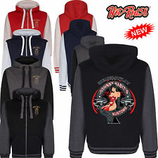 Hotrod 58 Greaser Pin Up Vintage Rockabilly Retro Hoody Hoodie zipper Jacket 123