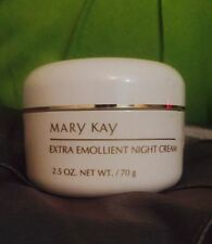 MARY KAY EXTRA EMOLLIENT NIGHT CREAM WHITE JAR DAMAGED LID READ LISTING