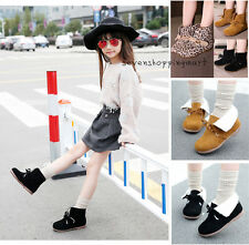 New Cute Girls Childrens Kids Autumn Winter Casual Flat Shorts Boots Shoe Size