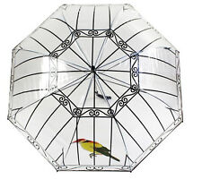 Winter Fashion Birdcage Transparent Clear Dome Bubble Rain Snow Stick Umbrella