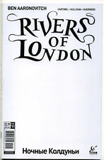 Titan Rivers of London (v2) #1 BLANK Sketch Cover Variant