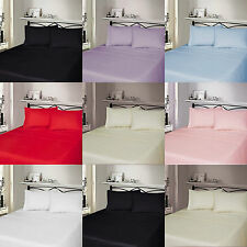 Luxury Thermal 100% Cotton Flannelette Fitted, Flat Bed Sheet & Pillowcases