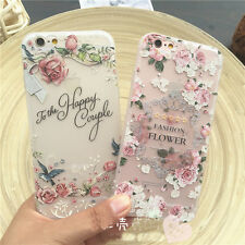 Rubber Soft TPU Silicone 3D Flower Back Case Cover Skin for iPhone 6S/7/7 Plus