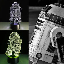 3D Night Light Lamp Acrylic Star Wars R2-D2 R2 Robot Gift Home Decoration Family