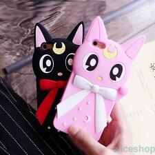 3D Sailor Moon Luna Cat Silicone Soft Back Case Cover for iPhone 7 7 Plus 6 6S