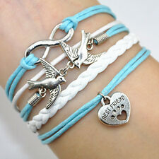 new hot Friendship Gift Infinity,birds. best friend bracelet,women girl bracelet