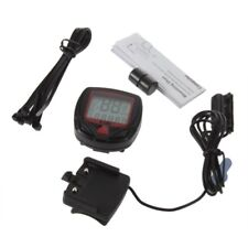 Digital Bicycle Bike LCD Cycling Computer Odometer Speedometer Stopwatch New WA
