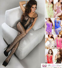 Womens Sexy Strappy 50 Shades All in One Fishnet Lace Crotchless Bodystocking