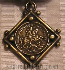 Saint George Antique Religious Medal Catholic Sterling or Bronze #1110