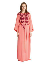 $4790 New Oscar de la Renta Embellished silk crepe de chine Caftan Dress Gown S