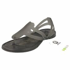 LADIES CROCS SANDALS BLACK SYNTHETIC STYLE - ADRINA STRAPPY