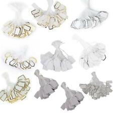500x Strung Price Labels Tie On Tags Luggage Price Strings Craft Plain Cards