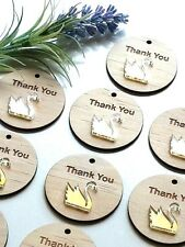 Thank You Wood Swan Tags Gold Favours Bonbonnieres Wedding Birthday Baby Shower