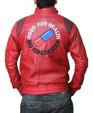 Mens AKIRA KANEDA Leather Jacket with Capsule Good for Health Bad For Education