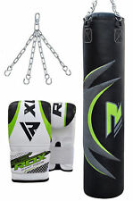 RDX Punching Bag Boxing Set Unfilled Heavy Duty Gloves Chain Training Kickboxing