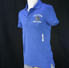 NWT Hollister by Abercrombie Men's Polo Shirts, S, Blue