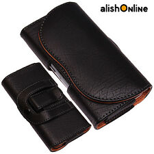 Universal Leather Pouch Belt Clip+Loop Hip Case for Sony Ericson Experia Phones