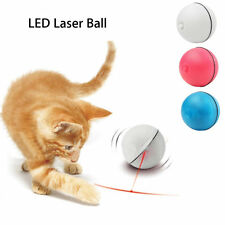 LED Laser Ball Interactive Toy Automatic Red Pointer Light Exercise Pet Cat Dog