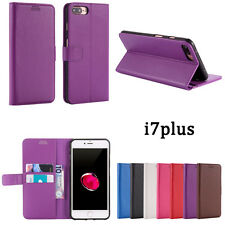 Litchi Leather wallet flip stand pouch Cover Case For iPhone 7/6/6s Plus