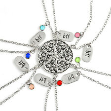 Hot Silver Slice Pizza Crysal Pendant Best Friend Forever Friendship Necklace UK