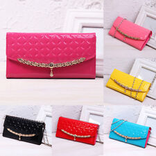 Lady Women Clutch Long Purse Leather Wallet Card Holder Chain Handbag Phone Bag