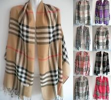 Blanket Oversized London Tartan Scarf Wrap Shawl Plaid Cozy Checked Pashmina