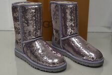 New UGG Uggs Classic Short SPARKLES Sequins LILAC Purple Pink Women Boots 8