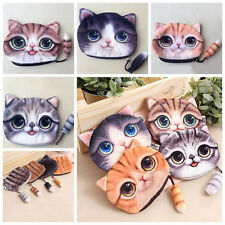 Kawaii Coin Bag Purse Cute Cat Small Wallet with Zipper For Phone  Change Purses