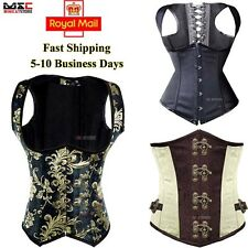 Basque Body Shapewear Boned Underbust Corset Bustier Waist Training Cincher Top