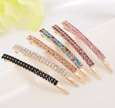 1PC Women Crystal Rhinestone Hair Clip Barrette Hairpin Bobby Pin Jewelry GIfts