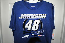 JIMMIE JOHNSON #48 OFFICIAL LICENSED NASCAR T-SHIRT BLUE SIZES MED LG.&  XL NWT
