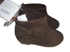 Gymboree Girls Brown Ankle Fashion Boots Bow 5 7 8 NWT