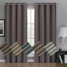 Gulfport Faux Linen Blackout Weave Grommet Window Curtain Panels 4 Sizes 6 Color