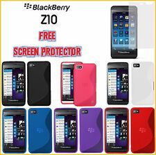 Blackberry BB Z10 TPU S Line Silicone Cover case Free Screen Protector Shipping