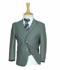 Premium Boys Suit ,Italian Fitted ,Light Grey ,Check ,Checkered ,Page Boy ,Suits