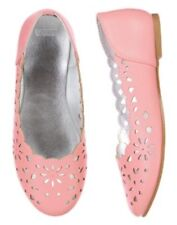 NWT Gymboree Spring Dressy Collection SZ 1 Pink Eyelet Flats Dress Shoes Girls